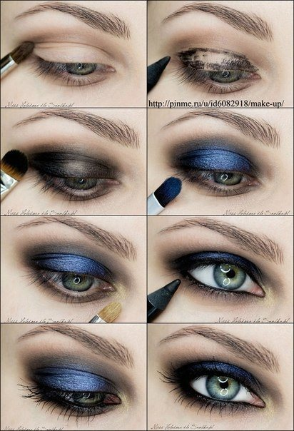 How to do step by step eye makeup