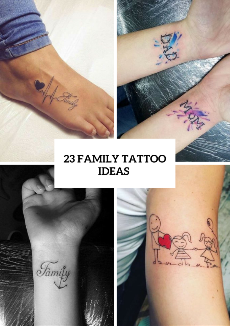 Family Tattoo Ideas For Ladies