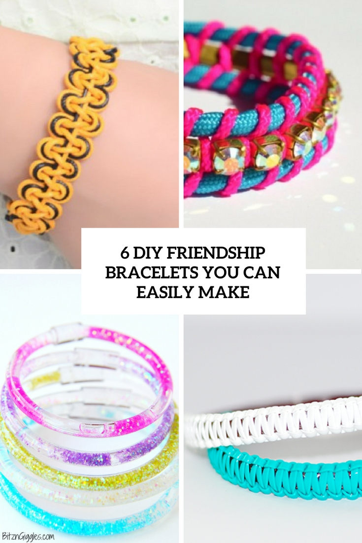 6diy friendship bracelets you can easily make cover