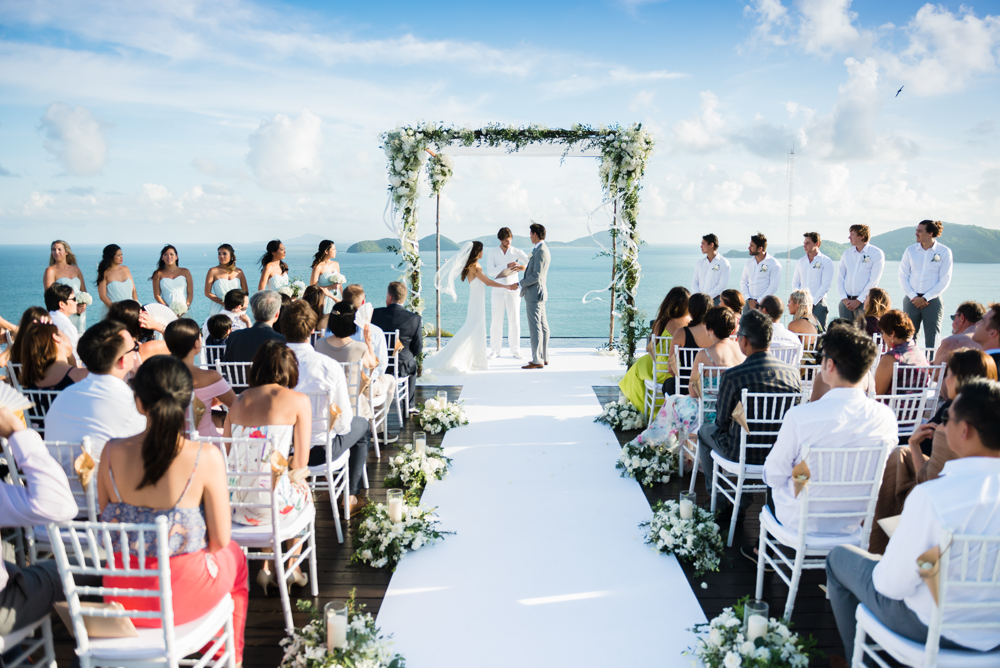 beach wedding ceremonies - photo by DarinImages http://ruffledblog.com/this-bride-is-sharing-all-you-need-to-know-about-a-destination-wedding-in-thailand