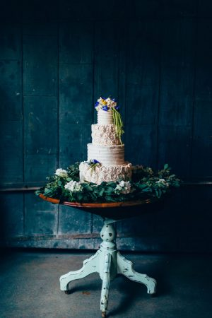 Rustic wedding cake Table - Derek Halkett Photography