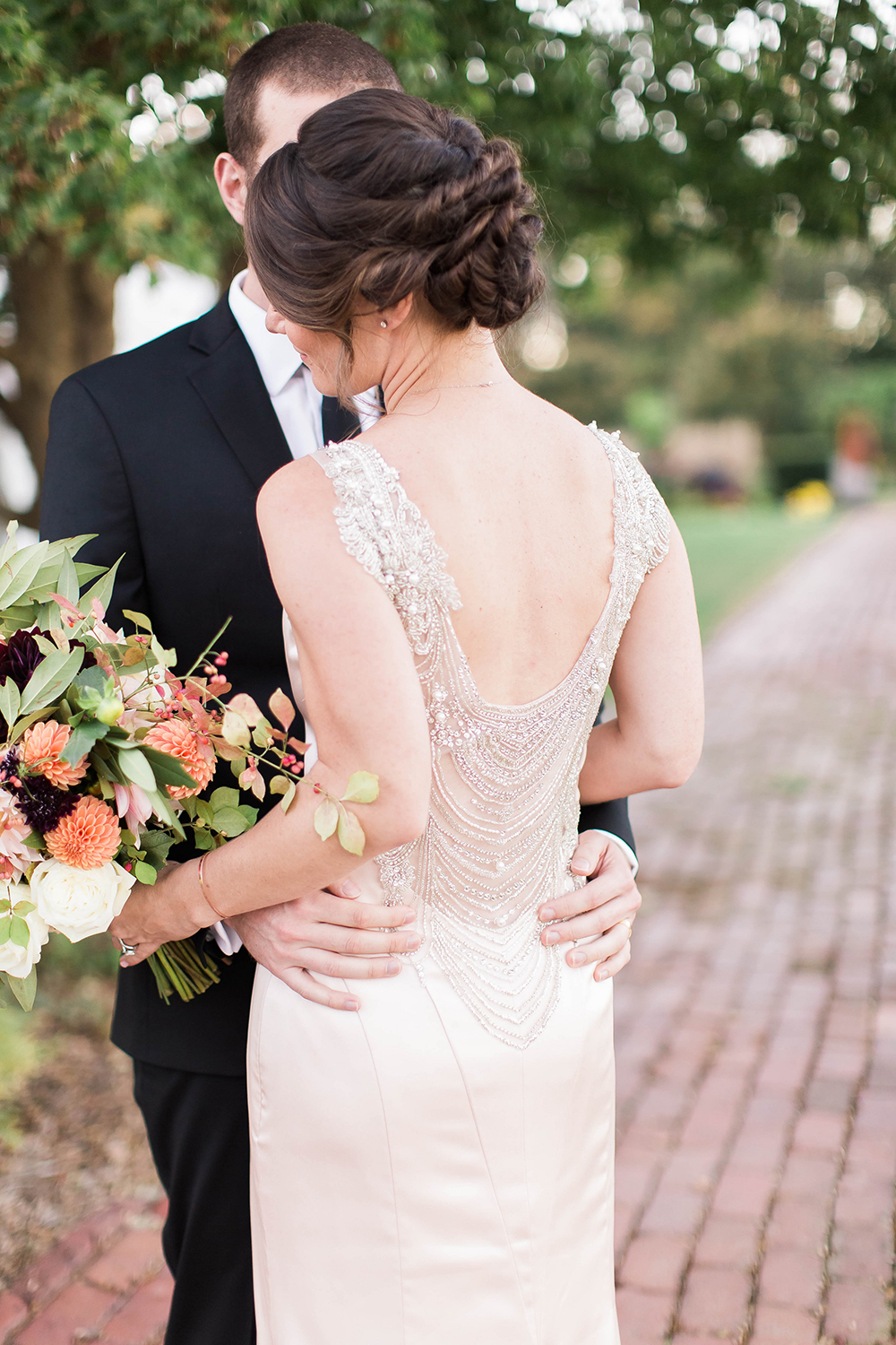 wedding dress detailing - photo by Candice Adelle Photography http://ruffledblog.com/historic-garden-wedding-inspiration
