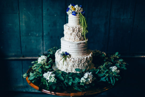 Floral wedding cake - Derek Halkett Photography