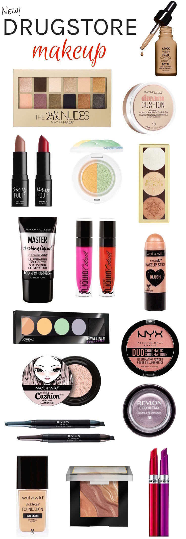 Kick off the new year with these exciting new drugstore makeup must-haves for 2017 - all under $  17!