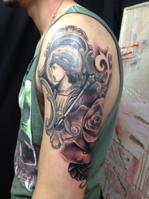 Beautiful portrait tattoo