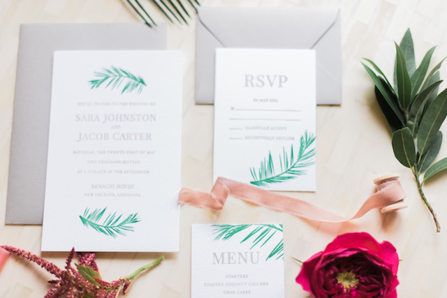 Palm Springs wedding invitation suite | Brittany Schlamp Photography