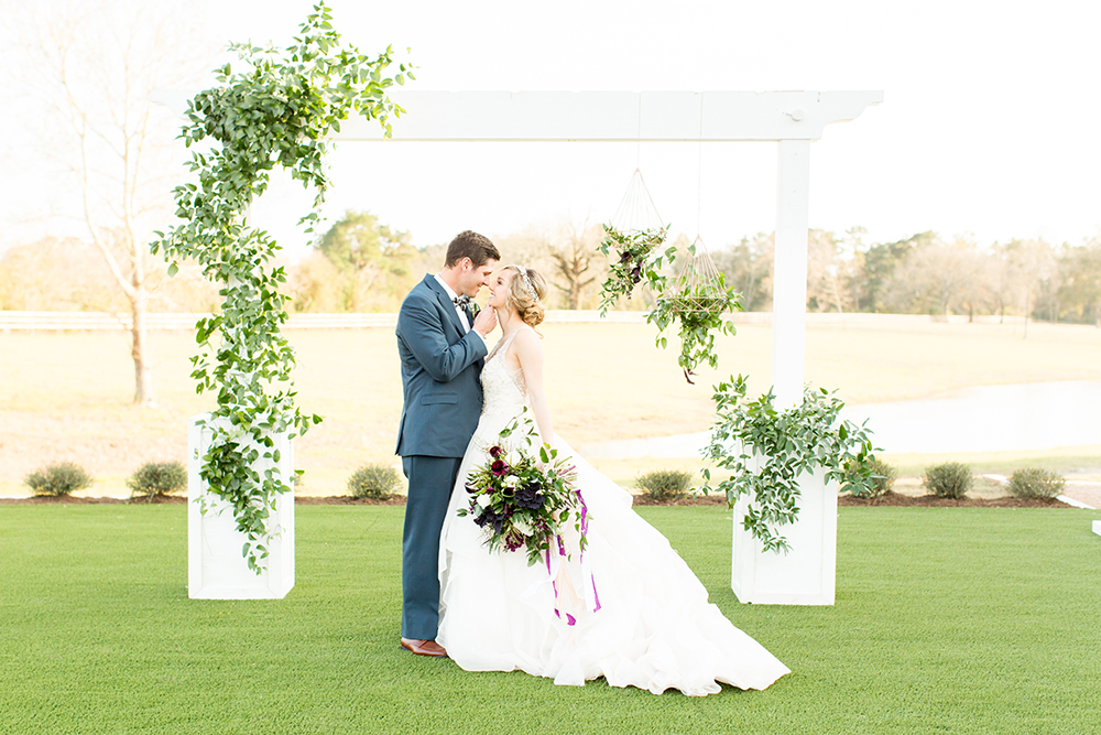 outdoor ceremony - photo by Kasey Lynn Photography http://ruffledblog.com/birch-and-copper-wedding-inspiration-with-modern-romance