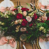 Floral wedding centerpiece - Edward Lai Photography