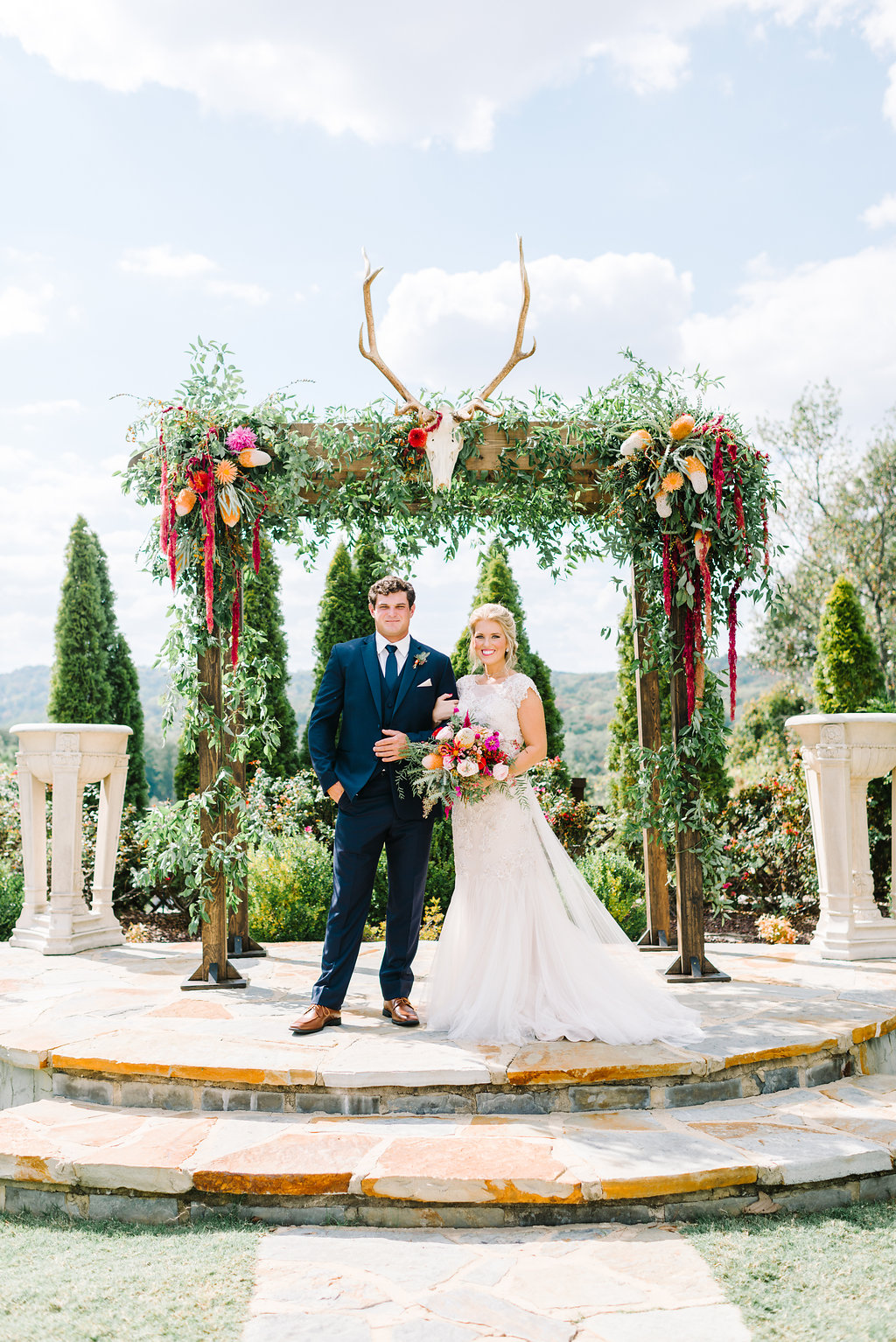 boho bride and groom - photo by Cathrine Taylor Photography http://ruffledblog.com/colorful-alabama-wedding-with-desert-accents