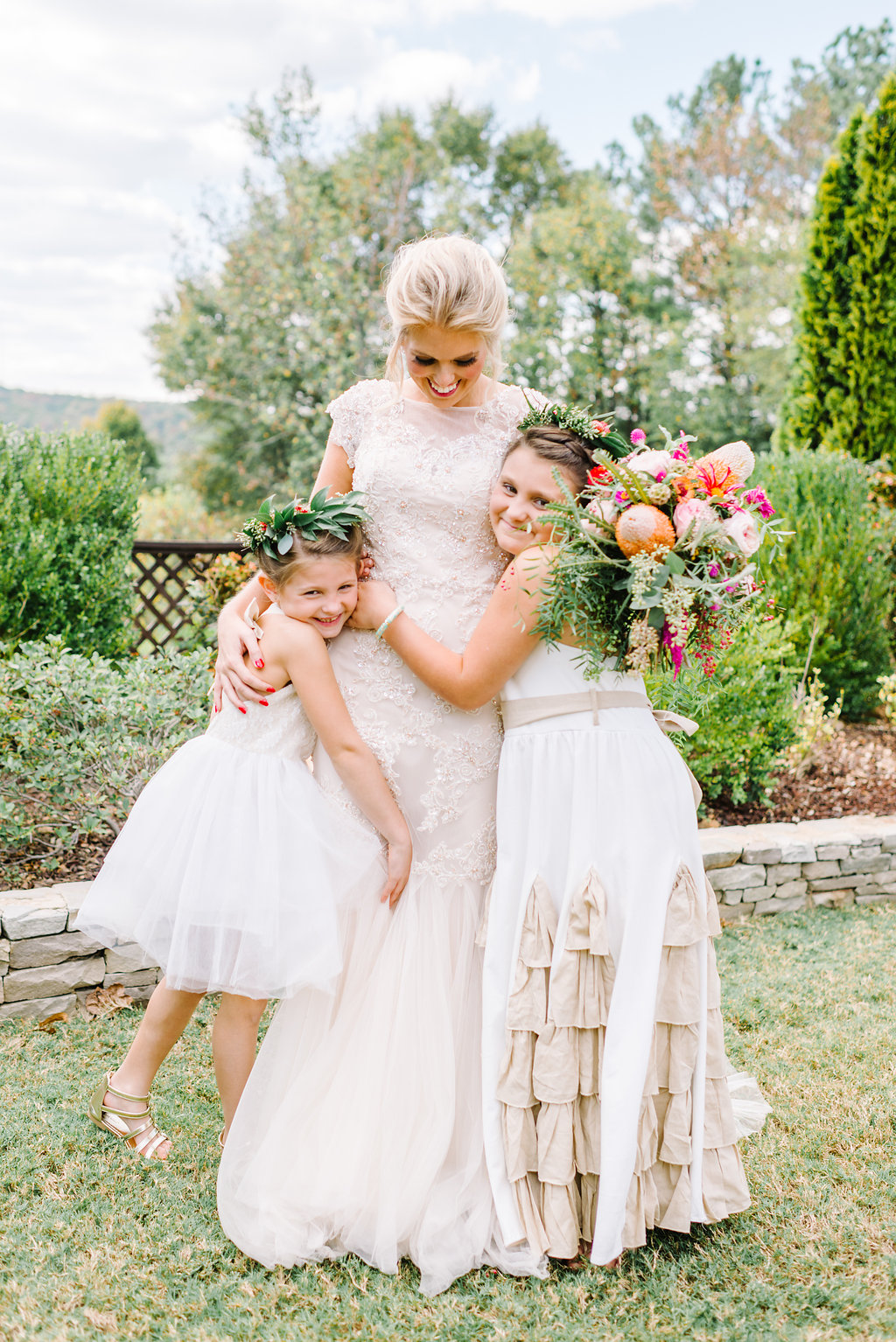 flower girls - photo by Cathrine Taylor Photography http://ruffledblog.com/colorful-alabama-wedding-with-desert-accents