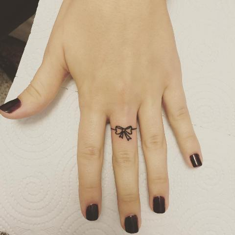 Small tattoo on the finger
