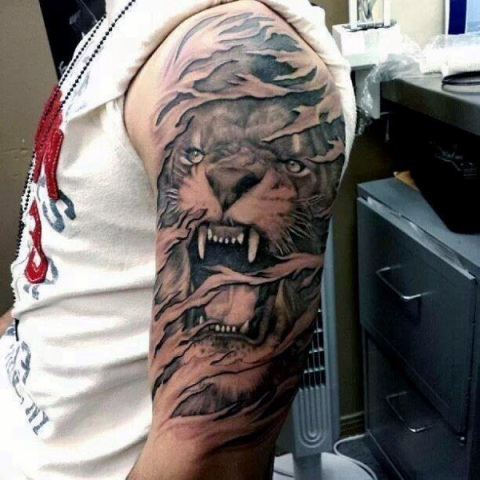 Tiger tattoo idea