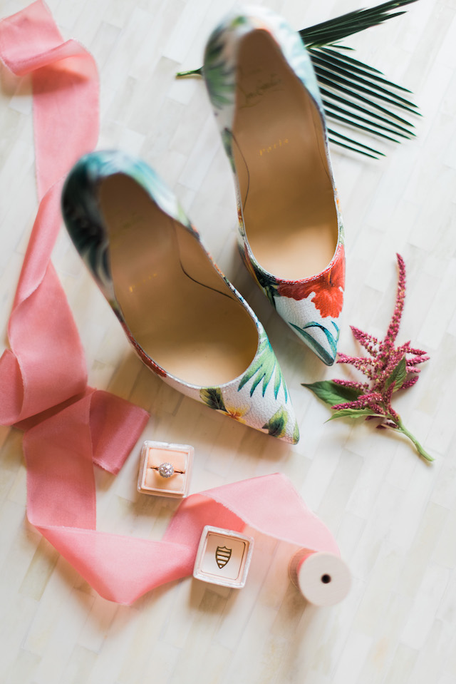 Floral print Louboutin pumps | Brittany Schlamp Photography