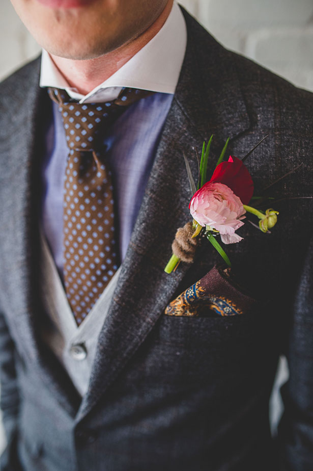 Groom boutonniere - Edward Lai Photography