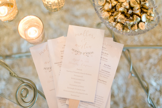 Wedding Programs | Leah Marie Photography