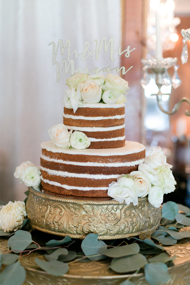 Laser cut wedding cake topper | Leah Marie Photography