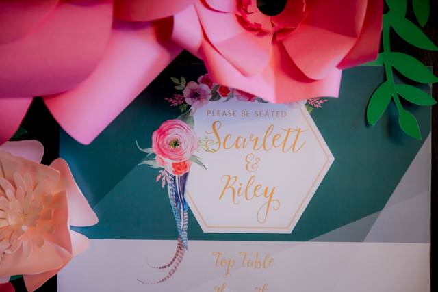 Boho luxe wedding invitation suite | Rocksalt Photography