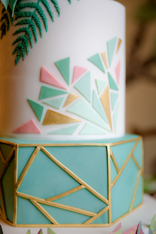 Geometric wedding cake | Rocksalt Photography
