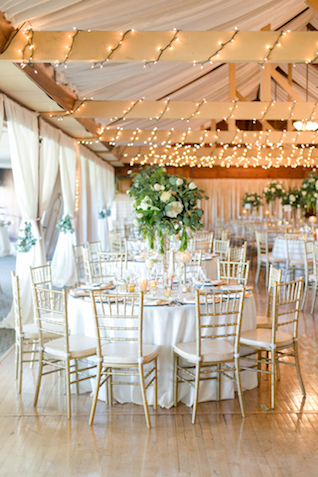 String lights wedding reception | Leah Marie Photography