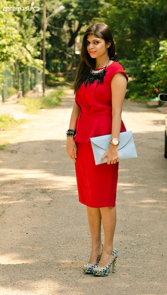 red date dresses for indian girls