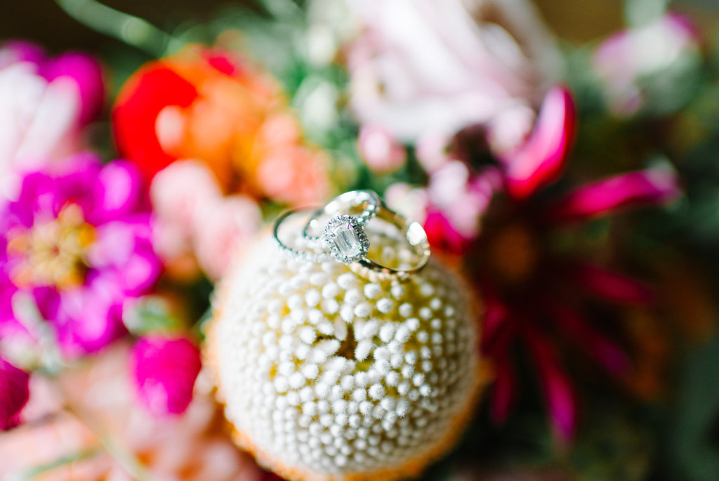 wedding rings - photo by Cathrine Taylor Photography http://ruffledblog.com/colorful-alabama-wedding-with-desert-accents