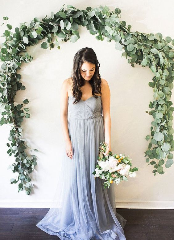 eucalyptus garland as a wedding backdrop or just decoration
