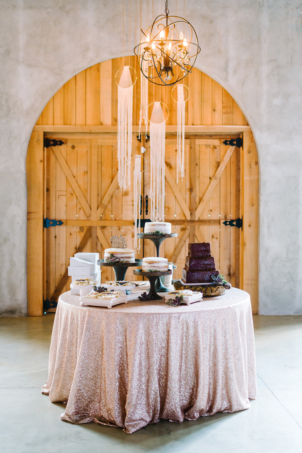 dessert tables - photo by Cathrine Taylor Photography http://ruffledblog.com/colorful-alabama-wedding-with-desert-accents