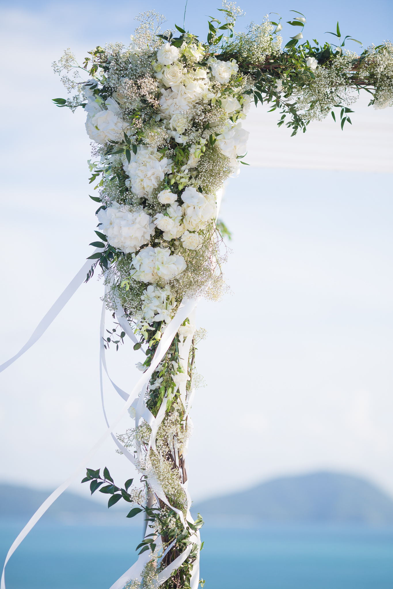 ceremony arch decor - photo by DarinImages http://ruffledblog.com/this-bride-is-sharing-all-you-need-to-know-about-a-destination-wedding-in-thailand