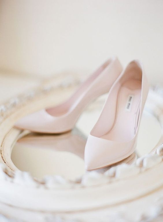 chic neutral bridal heels will perfectly finish up your look