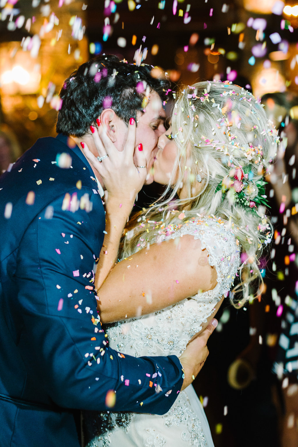 confetti at weddings - photo by Cathrine Taylor Photography http://ruffledblog.com/colorful-alabama-wedding-with-desert-accents