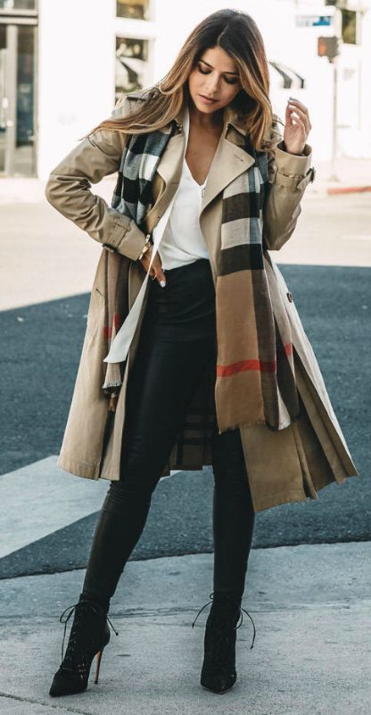 Trench Coat Outfits Women-19 Ways to Wear Trench Coats this Winter (2)