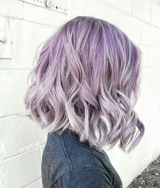 lilac to silver grey ombre hair