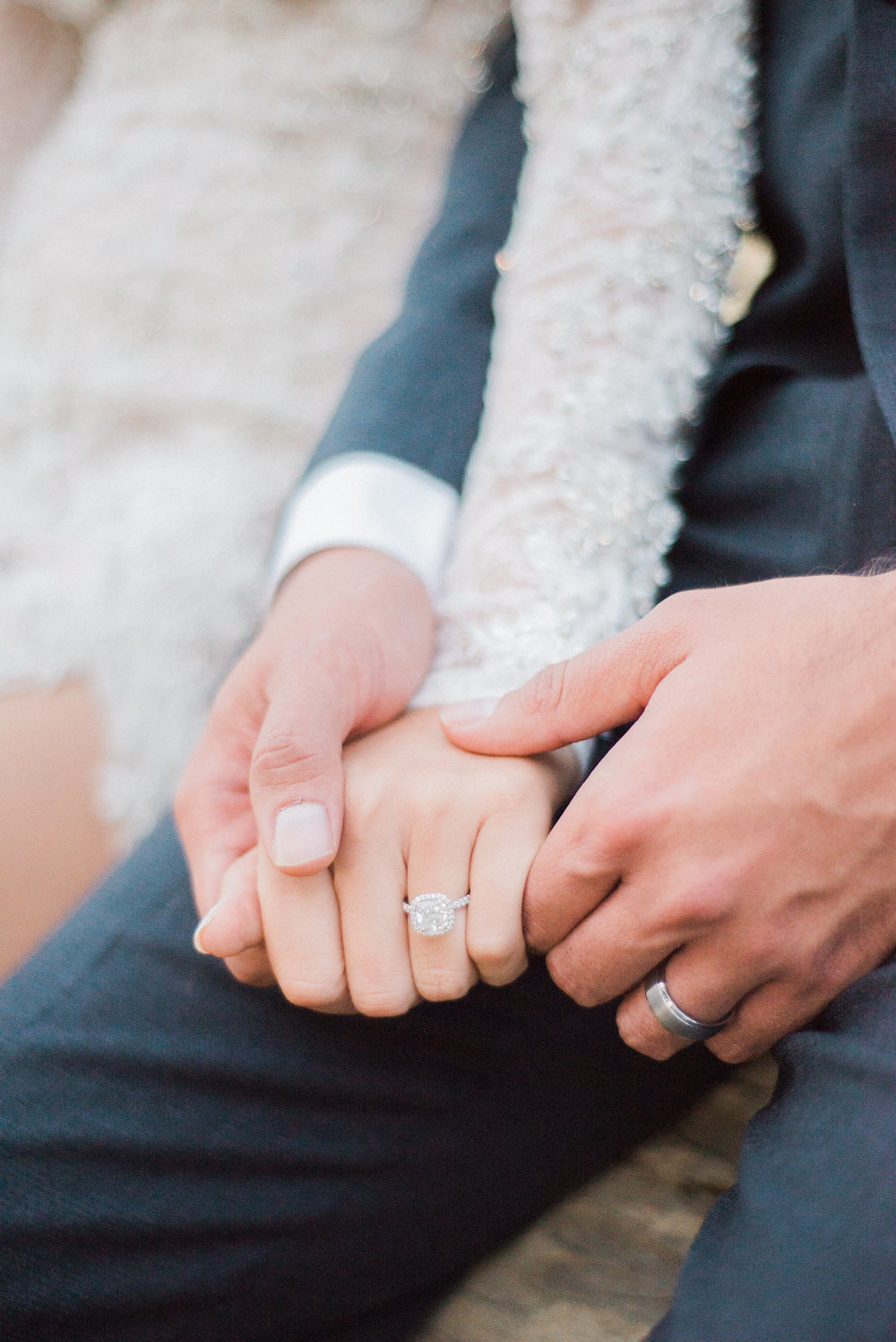 wedding rings - photo by Anya Kernes Photography http://ruffledblog.com/organic-wedding-inspiration-with-shades-of-blue
