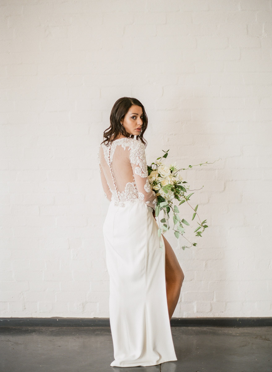 modern wedding dresses - photo by Qlix Photography http://ruffledblog.com/wedding-elegance-with-understated-beauty