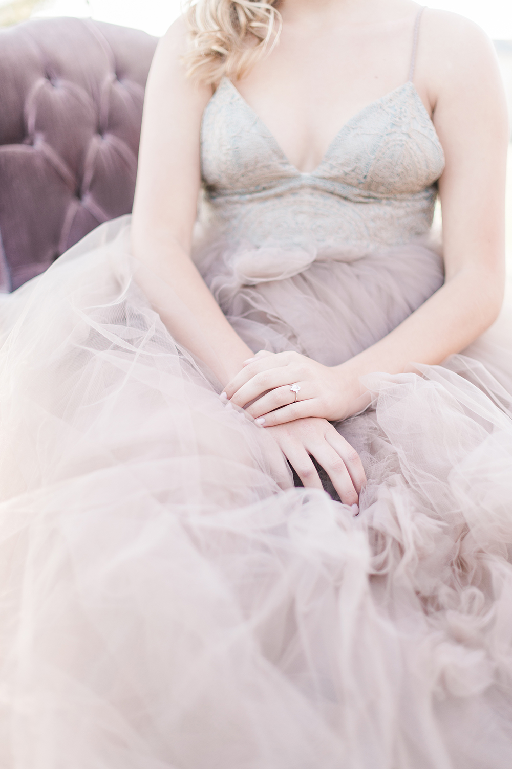 modern bridal gowns - photo by Jenny B Photos http://ruffledblog.com/ethereal-wedding-inspiration-with-vintage-accents