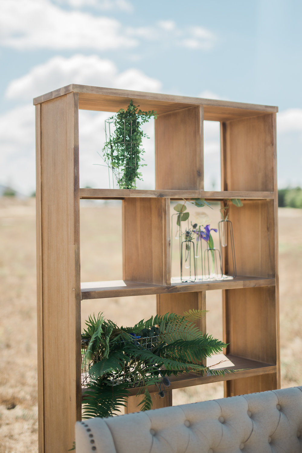 modern bookshelves - photo by Anya Kernes Photography http://ruffledblog.com/organic-wedding-inspiration-with-shades-of-blue