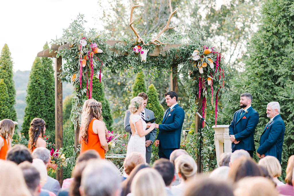wedding ceremony - photo by Cathrine Taylor Photography http://ruffledblog.com/colorful-alabama-wedding-with-desert-accents