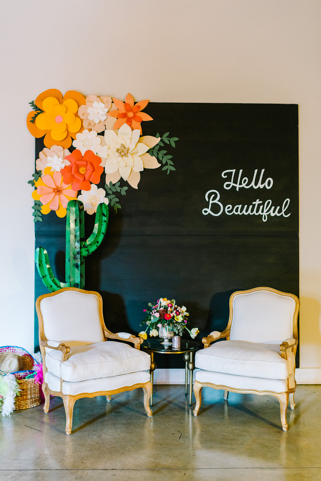 reception lounge areas - photo by Cathrine Taylor Photography http://ruffledblog.com/colorful-alabama-wedding-with-desert-accents