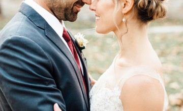 This rustic modern wedding shoot took place outdoors and was full of autumn inspired details and colors