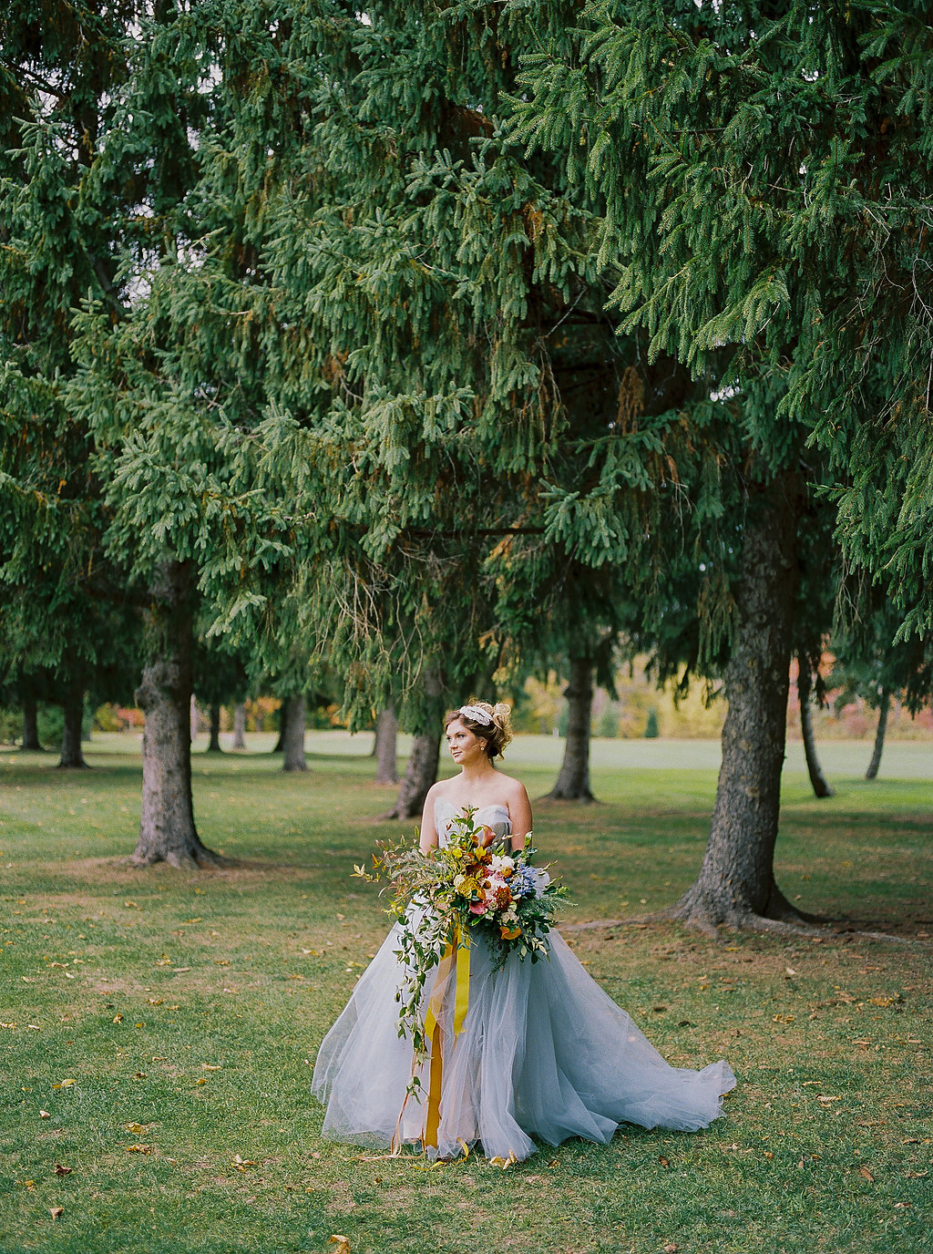 brides in blue - photo by Alexandra Elise Photography http://ruffledblog.com/cobalt-and-amber-wedding-inspiration