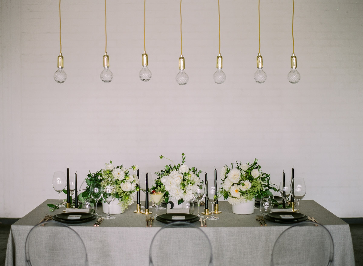 green and grey weddings - photo by Qlix Photography http://ruffledblog.com/wedding-elegance-with-understated-beauty