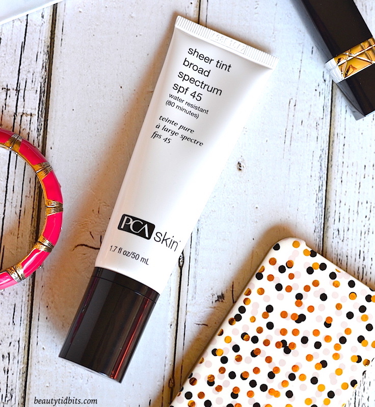 PCA Skin Sheer Tint SPF 45 review