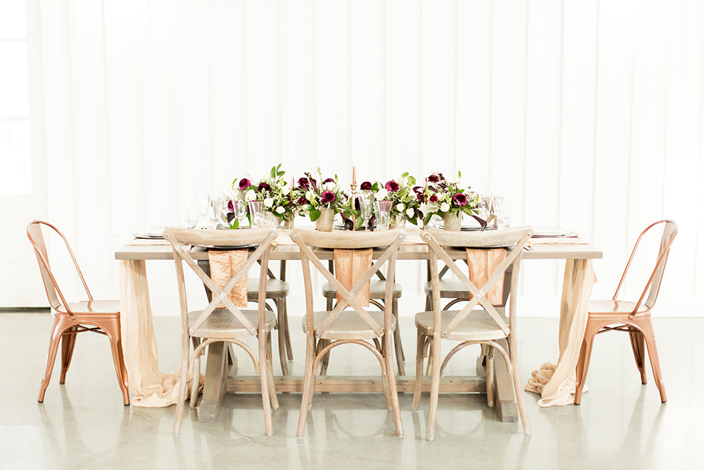 Birch and Copper Wedding Inspiration with Modern Romance - photo by Kasey Lynn Photography http://ruffledblog.com/birch-and-copper-wedding-inspiration-with-modern-romance