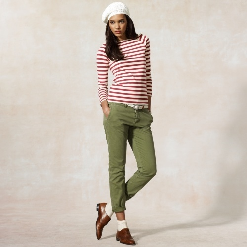 cool Joleen Striped Bateau Tee