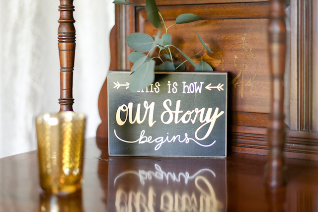 Wedding signage | Leah Marie Photography