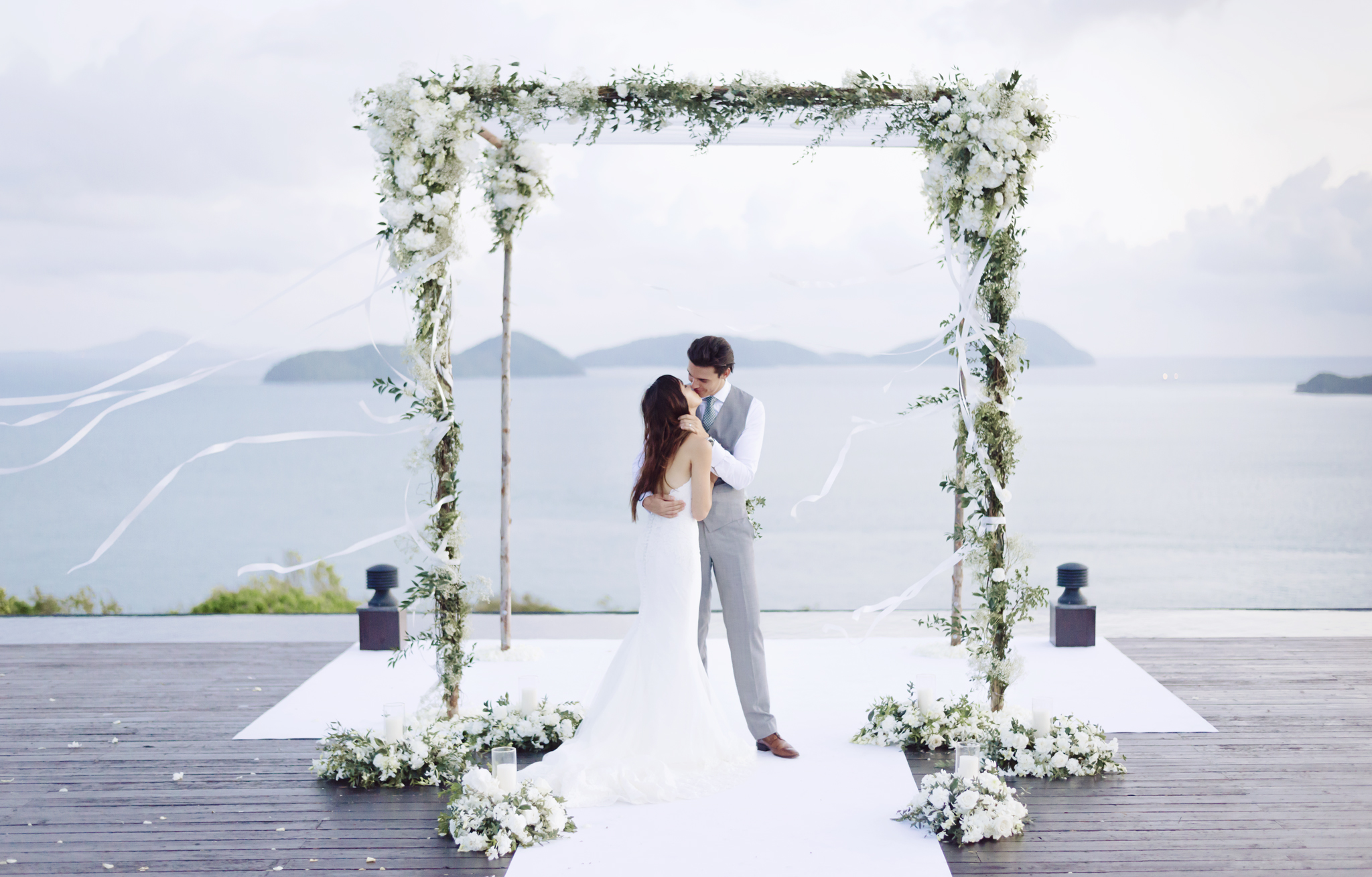 bride and groom - photo by DarinImages http://ruffledblog.com/this-bride-is-sharing-all-you-need-to-know-about-a-destination-wedding-in-thailand