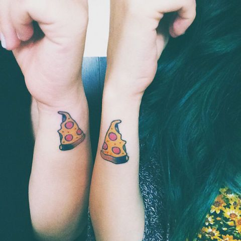 Funny pizza sister tattoos