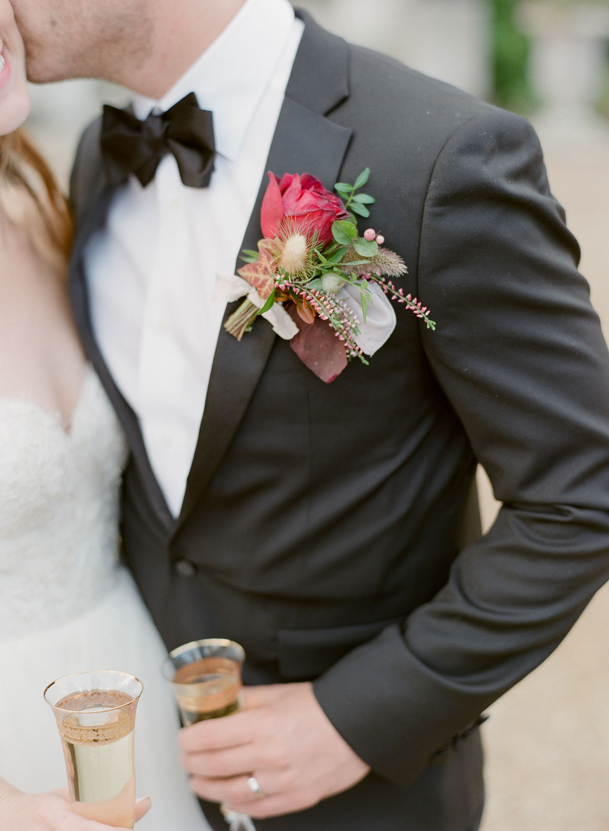 black tie and boutonniere - photo Greg Finck