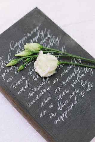 Calligraphy wedding details | Anny Dmitrieva Photography
