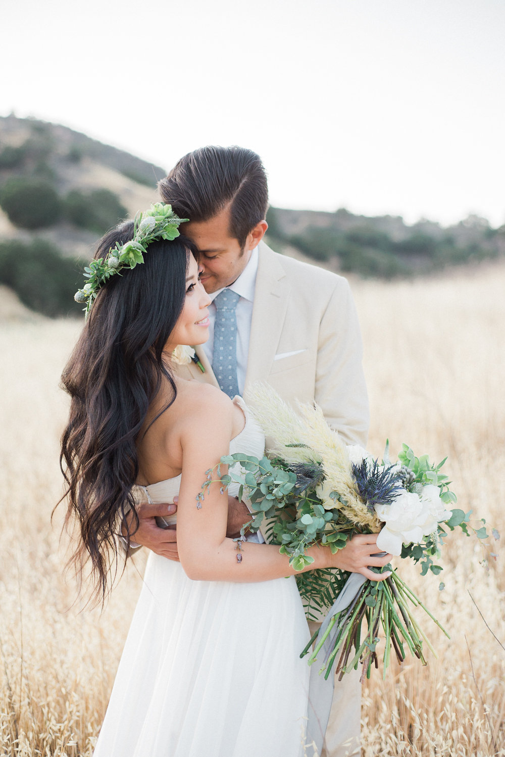 Organic Wedding Inspiration with Shades of Blue - photo by Anya Kernes Photography http://ruffledblog.com/organic-wedding-inspiration-with-shades-of-blue